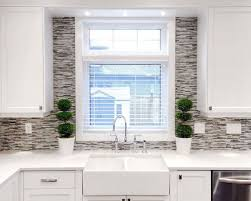 kitchen window backsplash backsplash around window houzz
