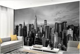 3d murals wallpaper for living room black and white new york see larger image