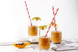 lychee juice papaya u0026 lychee tropical energy smoothie vegetarian department