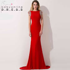 red formal evening gown family clothes