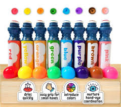 amazon com 8 pack washable dab and dot dauber markers for kids