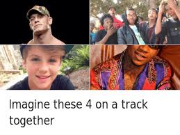 Meme Rap - john cena imagine these 4 on a track together satirical hip hop