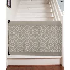 Baby Gate For Stairs With Banister And Wall Retractable Baby Gates You U0027ll Love Wayfair