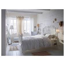 leirvik bed frame white luröy standard double ikea