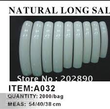 aa312 pack set professional french long curve salon nail tips
