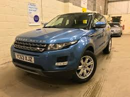 navy land rover used land rover range rover evoque blue for sale motors co uk
