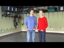 applying garage floor coating by valspar youtube