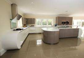 curved island kitchen designs curved two tone kitchen design with kitchen island finished in