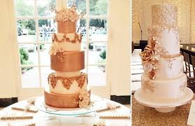 rose gold wedding cakes bronze u0026 copper cake geek magazine