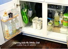 Under Kitchen Sink Cabinet Clever Solutions For Under Kitchen Sink Storage Under Cabinet