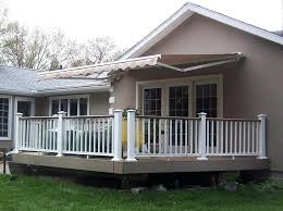 outdoor deck shade canopies manual retractable patio awning