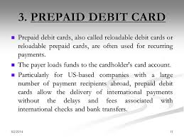 reloadable prepaid debit cards debit card credit card ppt online