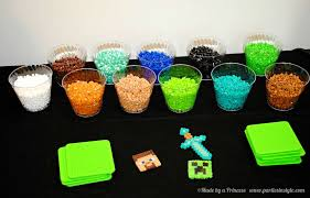 minecraft birthday party ideas birthday party craft table ideas image inspiration of cake and