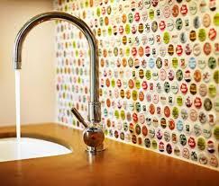 simple backsplash ideas for kitchen diy projects bottlecap backsplash diy 8 diy backsplash ideas to