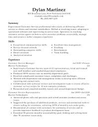 Free Resume Samples For Customer Service by Customer Service Resume Templates Customer Service Representative