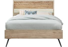 midtown loft natural 3 pc queen panel bed queen beds light wood