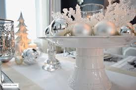a winter white and silver tablescape