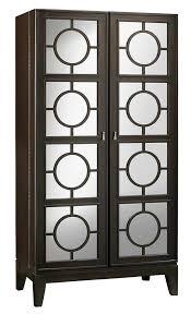 Mirrored Bar Cabinet 695154 Howard Miller Black Coffee Ring Panel Doors Mirrored Wine