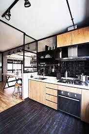 Designer Kitchen Utensils Black Kitchen Island With Granite Countertop Modern Kitchen