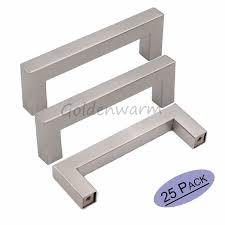 bouton de cuisine 12 12mm carré bar poignée de porte miroir brossé en acier