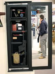 mirror gun safe stealth wall concealed storage youtube design