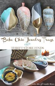 Make Your Own Jewelry Store - boho chic jewelry trays from thrift store finds jpg