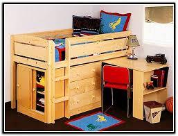 Kids Storage Beds With Desk Savannah Storage Loft Bed With Desk Home Design Ideas
