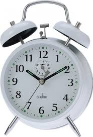 Old Fashioned Alarm Clocks Acctim Large Bell Alarm Clock Brass Amazon Co Uk Kitchen U0026 Home