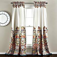 Modern Floral Curtain Panels Sirina Boho Moroccan Paisley Floral Window Curtain Panel Set