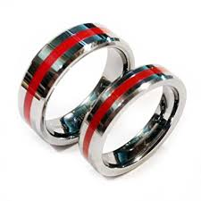 thin line wedding ring tungsten brotherhood band with a thin line for