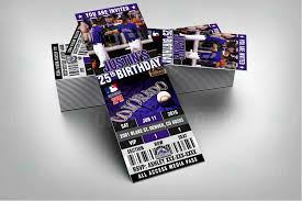 sports invites 2 5 6 u2033 colorado rockies baseball sports party