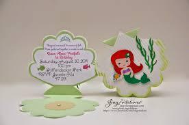 handmade invitations jingvitations mermaid handmade invitations