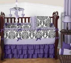 lavender purple black and white sloane baby bedding 9pc girls crib