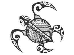 polynesian tribal turtle stock vector image 74479471