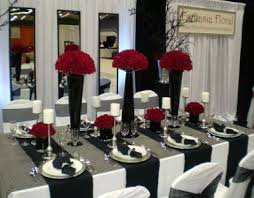 black and white table settings red white and black table settings black and white tables and