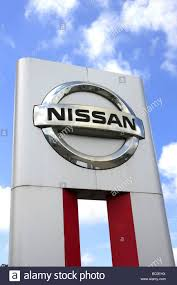 nissan japan headquarters nissan japanese car manufacturer logo stock photo royalty free