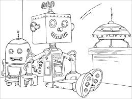 robot coloring pages pixelpictart com