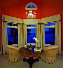 window valance ideas living room traditional with arch window bay