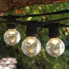 c9 incandescent light strings 25 black commercial c9 string light with smooth led g40 bulbs