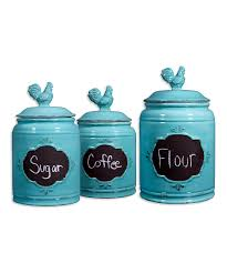 country kitchen canister sets ceramic bacill us home essentials and beyond aqua chalkboard canister set zulily