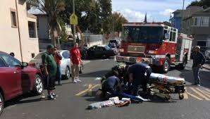 oakland critical after struck by hit run motorist