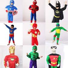 Iron Man Halloween Costume Toddler Boys Muscle Super Hero Captain America Costume Spiderman Batman