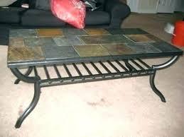 slate wood coffee table slate coffee tables classy round slate coffee table on home design
