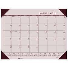 cool desk pad calendars hod12470 rose ecotones 2018 house of doolittle desk pad calendar 22