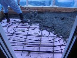 radiant floor heating concrete installation minnetonka
