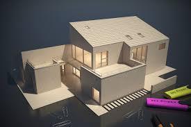 old visualization balsa wood rendering