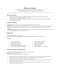 Acting Resume For Beginner Entry Level Web Developer Resume Resume For Your Job Application