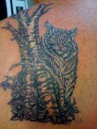 bobcat behind a birch tree tattoo bobcat behind a birch tr u2026 flickr