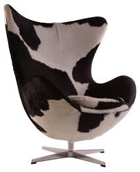 black and white cowhide chair furniture decor trend faux