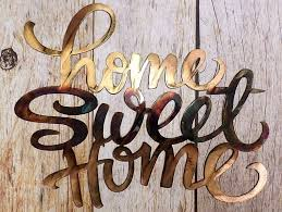 home sweet home decorations plasma cut steel home sweet home wall hanging decoration sign art